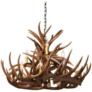 Taranto Antler Resin Chandelier | 12 Light Natural