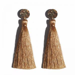 Tassel Earrings   Bronze by Martha Jean