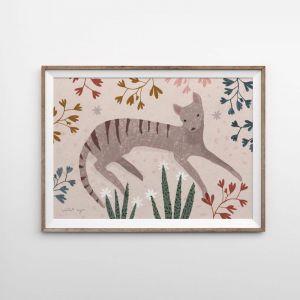 Tassie Tiger Art Print   Various Sizes