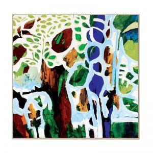 Tawny Trees | Framed Canvas Art