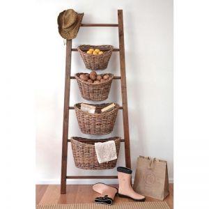 Teak Basket Ladder
