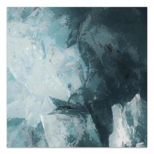 Teal And Grey | Hand Painted Artwork by United Artworks