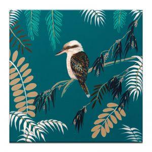 Teal Koockaburra | Amanda Skye-Mulder | Canvas or Print by Artist Lane