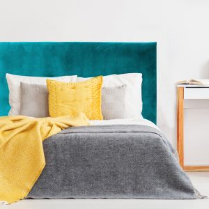 Teal Velvet Plain Upholstered Bedhead | All Sizes | Custom Made by Martini Furniture