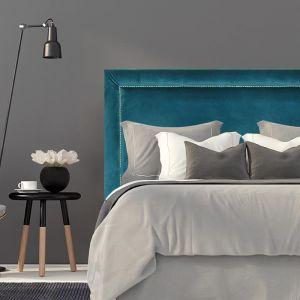 Teal Velvet Studded Upholstered Bedhead | Custom Made | All Sizes