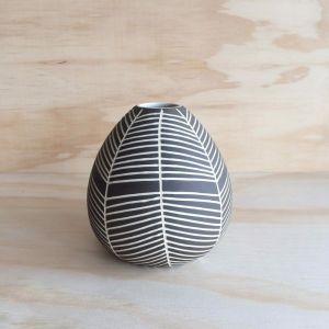 Teardrop Vase | Charcoal