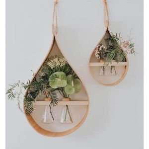 Teardrop Wooden Vase | Double Conical Flask
