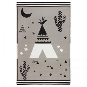 Teepee | Indoor Outdoor Kids Rug | Various Sizes