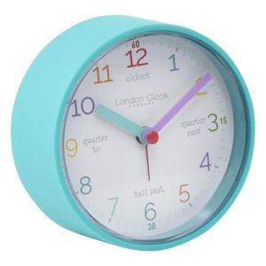 Tell The Time Silent Alarm Clock |  Aqua