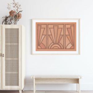 Terracotta Deco Art Print | Ivory Ink Studio