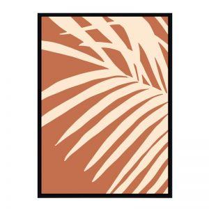 Terracotta Fern | Flat Matte Black Frame | Front View