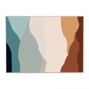 Terralotta Slice   Framed Canvas Print