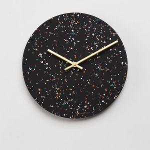 Terrazzo Clock in Black or White | by Capra Designs
