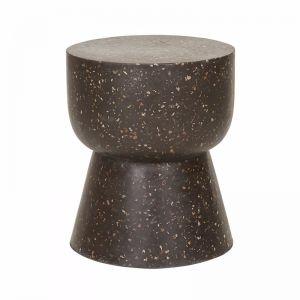 Terrazzo Hourglass Stump | Black | Fenton & Fenton