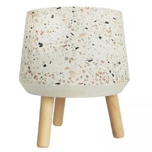 Terrazzo Planter with Timber legs