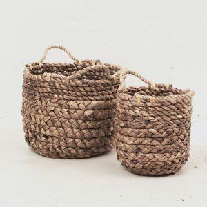 Textural Waterhyacinth Baskets l Pre Order