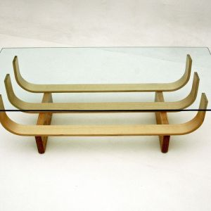 TH Brown Aquarius Coffee Table | Clear Ash