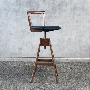 TH Brown Danish Bar Stool - Dark Ash