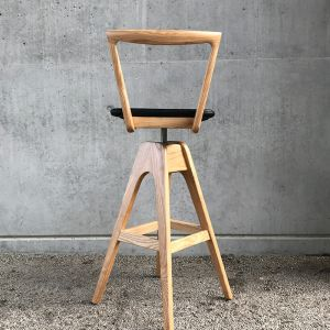 TH Brown Danish Bar Stool- Light Ash