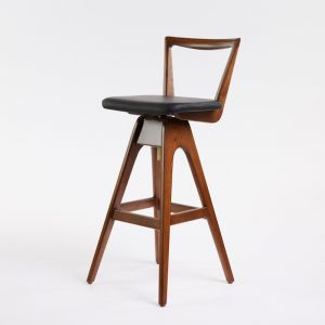 TH Brown Danish Stool | Dark Ash | Various Seat Colours
