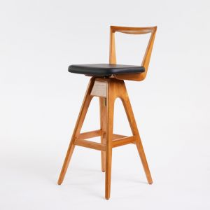 TH Brown Danish Stool | Light Ash | Various Seat Colours