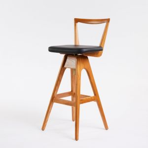 TH Brown Danish Stool | Teak | Various Seat Colours