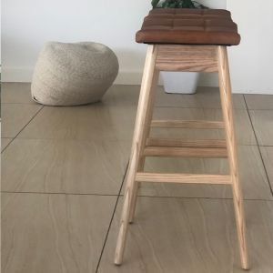 TH Brown Martelle Bar Stool - Clear Ash