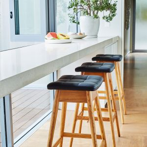 TH Brown Martelle Bar Stool- Light Ash