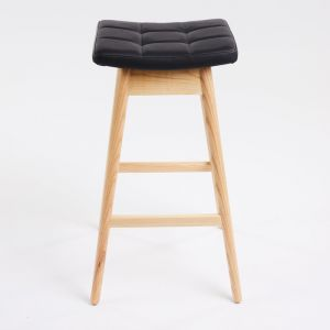 TH Brown Martelle Stool | Clear Ash | Various Seat Colours
