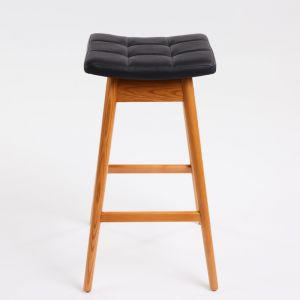 TH Brown Martelle Stool | Teak | Various Seat Colours