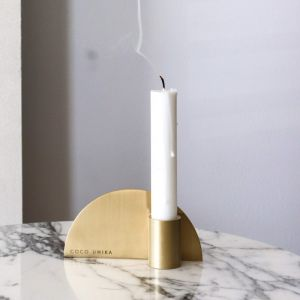 The Arc | Solid Brass Candle Holder | By Coco Unika