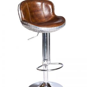 The Baron X2 Aluminium & Vintage Leather Bar Stool | by Cocolea Furniture