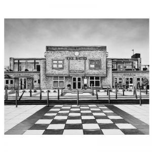 The Baths | Canvas Print | C7022 BLACK | Colour Clash Studio