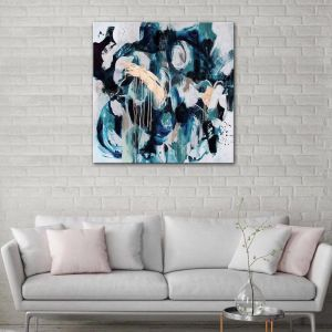 The Blue Brass | Hand Painted Artwork By United Artworks