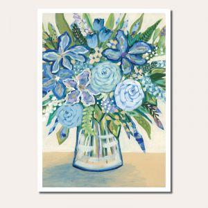 The Blue Bunch | Botanical Art | Unframed Fine Art Print