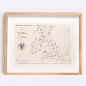 The British Isles Map Illustration | Print by Adrianne Design
