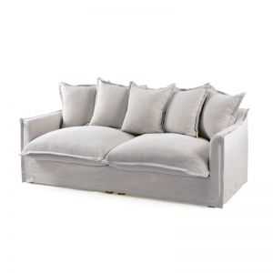 The Cloud 3 Seater Sofa With Slipcover | Cloudy Grey | by Black Mango