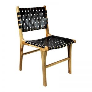 The Coco Chair   Black Soot Leather   by Coco Unika