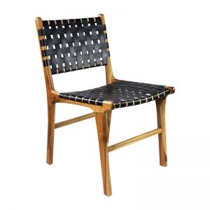 The Coco Chair | Midnight Navy Leather | by Coco Unika