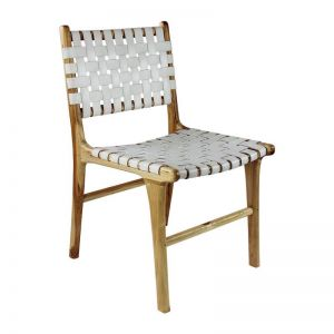 The Coco Chair   White Snow Leather   by Coco Unika