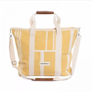 THE COOLER TOTE-VINTAGE YELLOW STRIPE