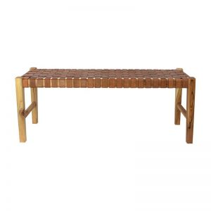 The Elk Bench | Antique Tan Leather | By Coco Unika