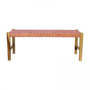 The Elk Bench   Blush Rose Leather   by Coco Unika