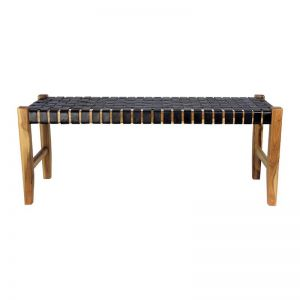 The Elk Bench | Midnight Navy Leather | by Coco Unika