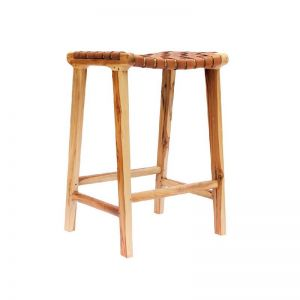 The Erik Barstool | Nude Light Leather | by Coco Unika