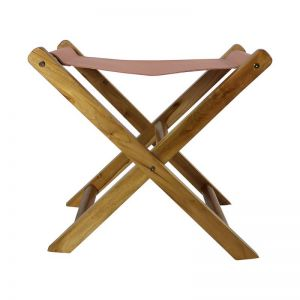 The Fisk Stool | Blush Rose Leather | by Coco Unika