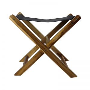 The Fisk Stool | Midnight Navy Leather | by Coco Unika