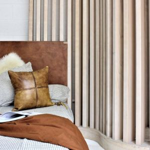 The Fransen Headboard | Full Leather | King Size | by Coco Unika