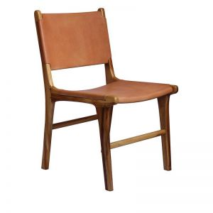 The Ida Chair | Nude Light Leather | by Coco Unika