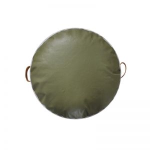 The Jimmy Cushion | Olive Green Leather | by Coco Unika